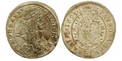 I.Lipót 3 krajcár 1693 KB