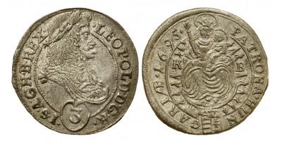 I.Lipót 3 krajcár 1695 KB