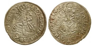 I.Lipót 3 krajcár 1696 CH Pozsony
