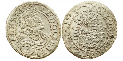 I.Lipót 3 krajcár 1703 NB.