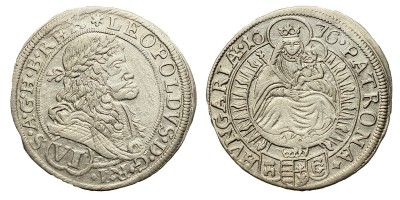I.Lipót VI krajcár 1676 Pozsony