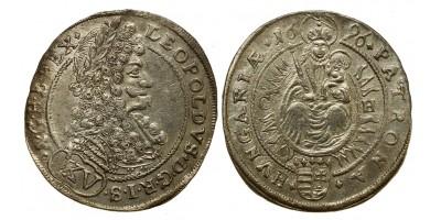 I.Lipót XV  krajcár 1696 CH Pozsony