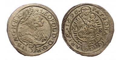 I.Lipót 3 krajcár 1696 NB