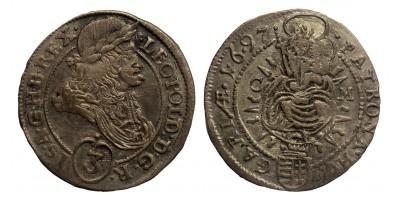 I.Lipót 3 krajcár 1697 C-M
