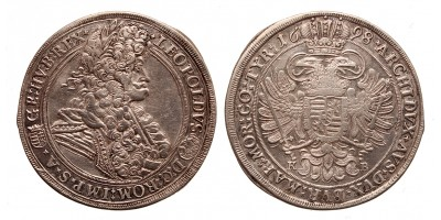 I.Lipót tallér 1698 KB