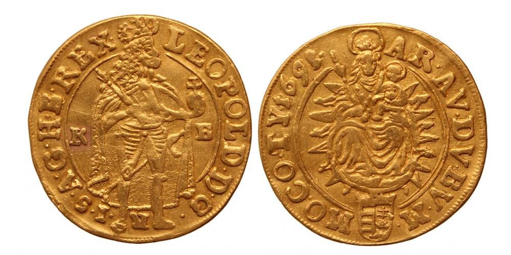 I. Lipót dukát 1691 KB