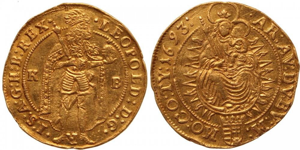 I.Lipót dukát 1693 KB.