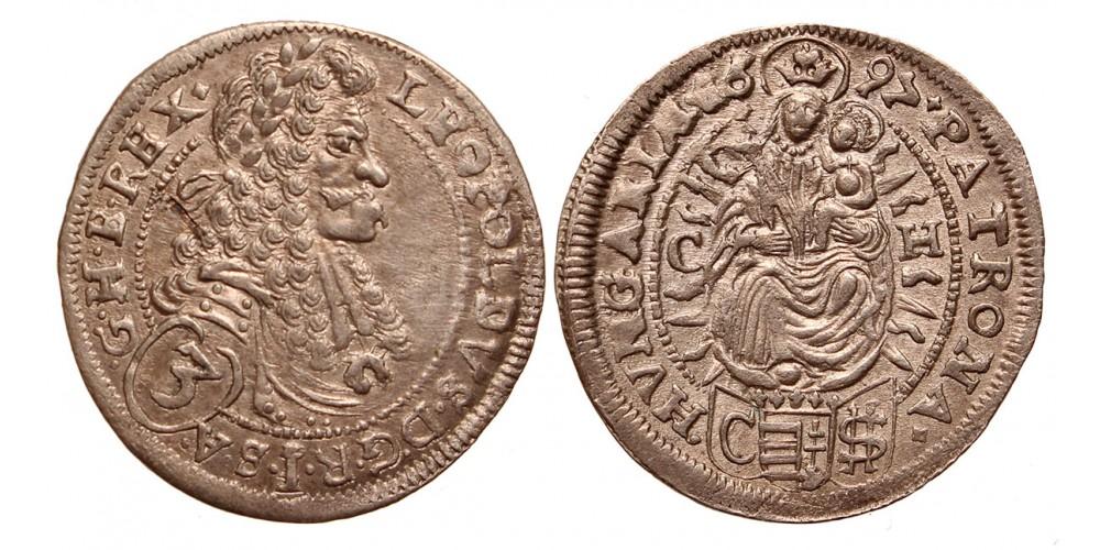 I.Lipót 3 krajcár 1697 C-H Pozsony