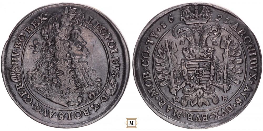 I. Lipót tallér 1691 KB