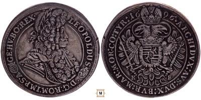 I. Lipót tallér 1696 KB
