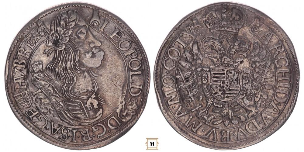 I. Lipót 1/4 tallér 1665 KB RRR!