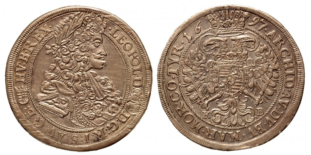 I. Lipót 1/2 tallér 1697 KB
