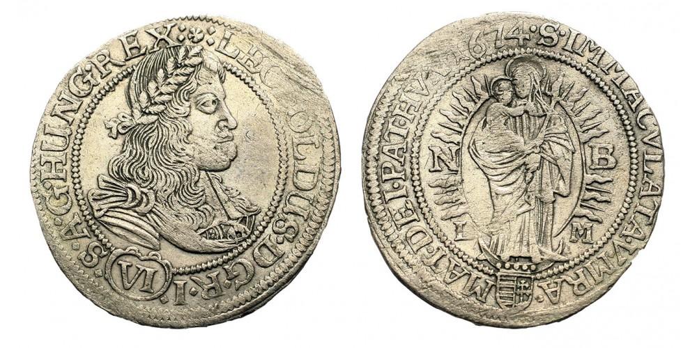 I.Lipót  6 krajczár 1674 NB/LM
