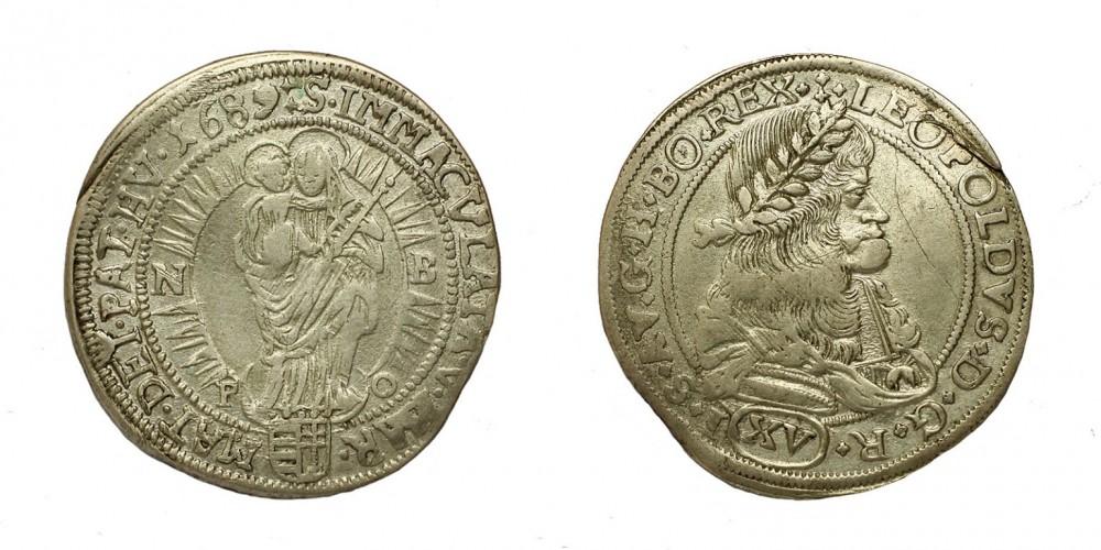 Leopold I. 15 krajczár 1689 NB/PO