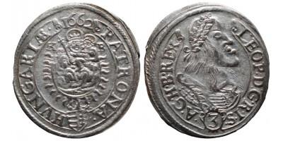 I.Lipót 3 krajcár 1662 KB