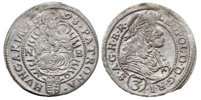 I.Lipót 3 krajcár 1698 NB