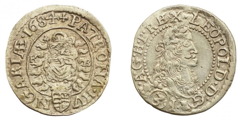 I.Lipót 3 krajcár 1684 KB R
