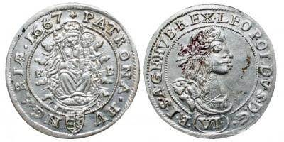 I.Lipót 6 krajcár 1667