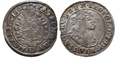 I.Lipót 6 krajcár 1668