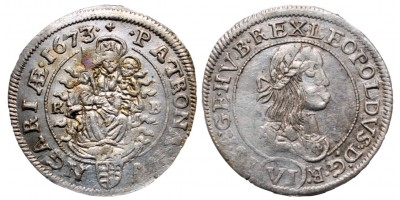 I.Lipót 6 krajcár 1673
