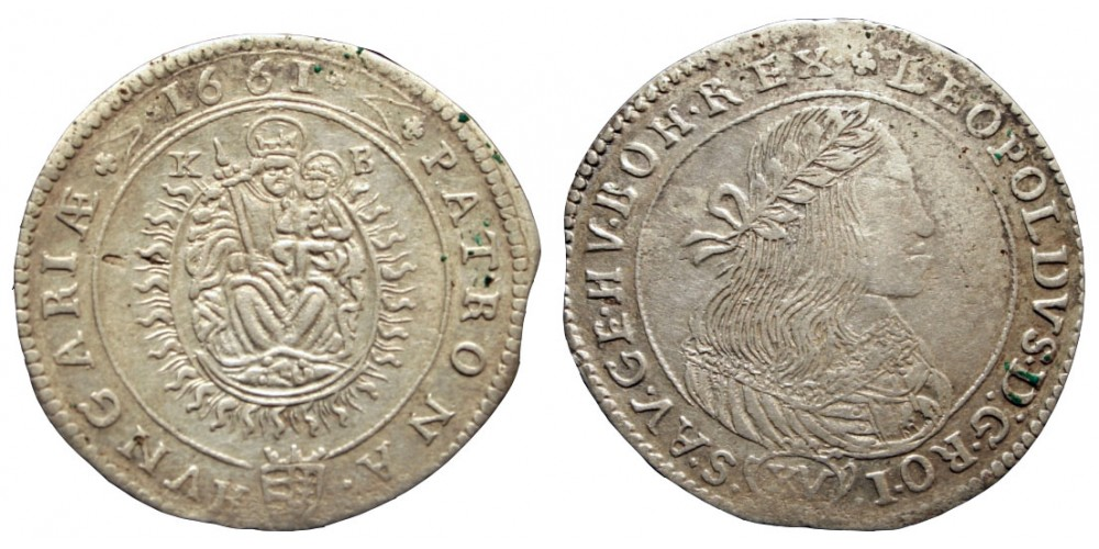 I.Lipót 15 krajcár 1661