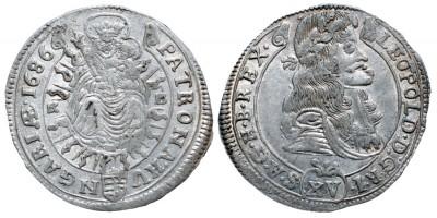 I.Lipót 15 krajcár 1686