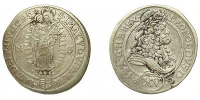 Leopold I. 15 krajczár 1695 NB/PO