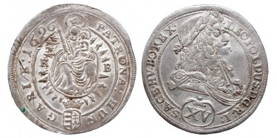 I.Lipót 15 krajcár 1696