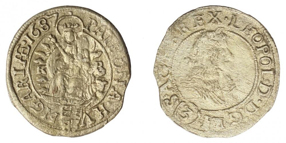 I.Lipót 3 krajcár 1687 KB R