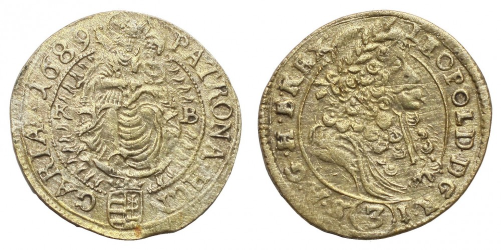 I.Lipót 3 krajcár 1689 KB R