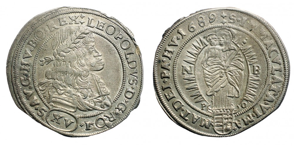 I.Lipót  15 krajczár 1689 NB/PO
