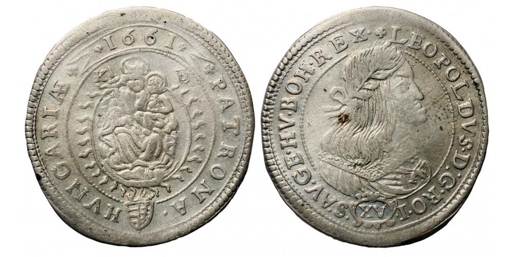 I. Lipót XV krajcár 1661 KB