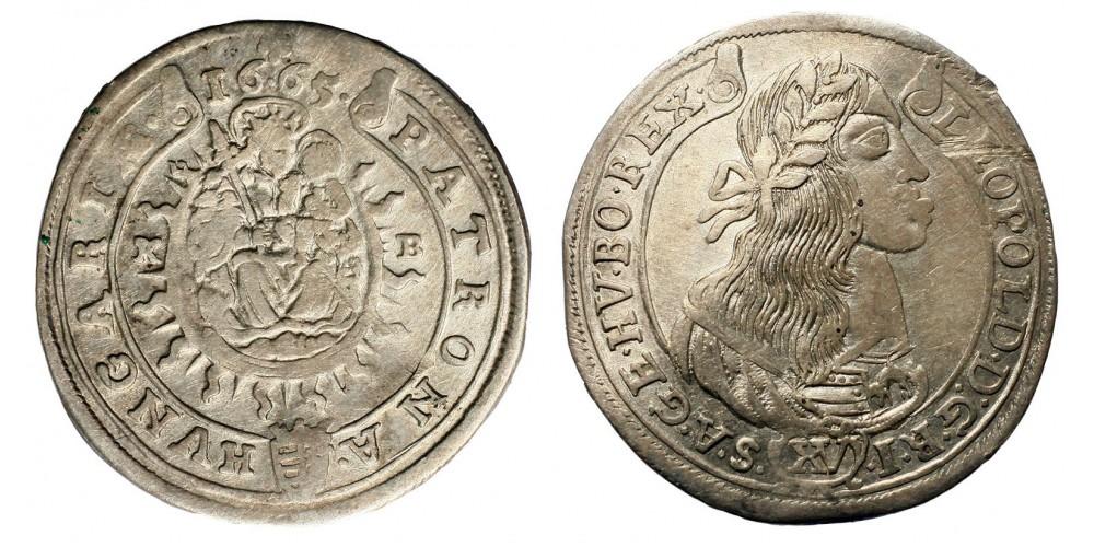 I. Lipót XV krajcár 1665 KB
