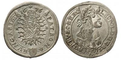 I. Lipót XV krajcár 1676 KB
