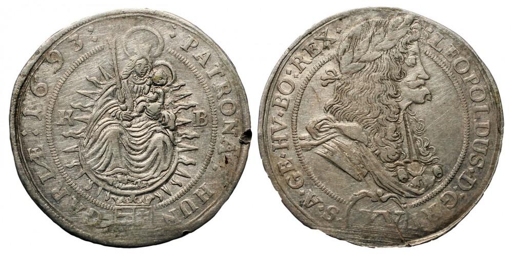 I. Lipót XV krajcár 1693 KB