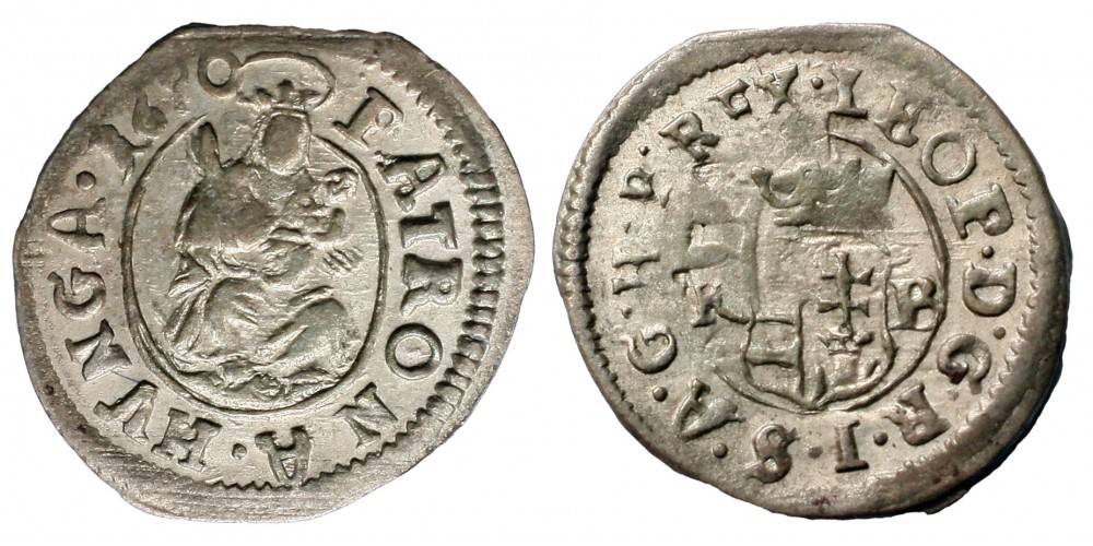 I.Lipót denár 1670