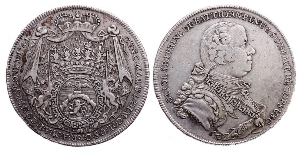 Batthyány Károly (1698-1772) tallér 1764
