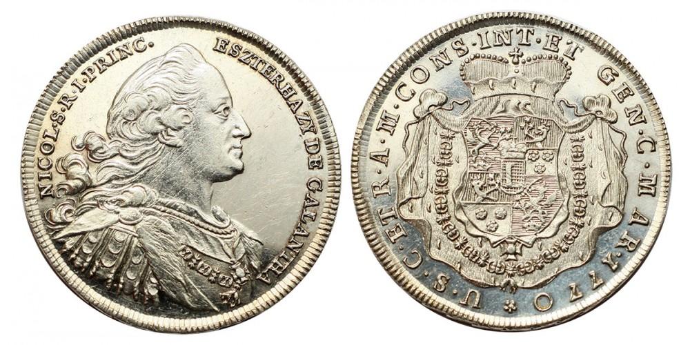 Eszterházy Miklós 1714-1790  1/2 tallér 1770