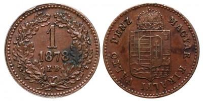 1 Krajcár 1878 KB