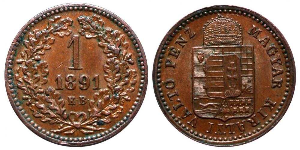 1 Krajcár 1891 KB