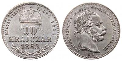 Ferenc József  10 krajcár 1869 KB MKVP