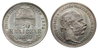 Ferenc József  20 krajcár 1869 KB MKVP