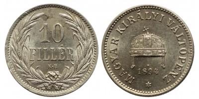 10 fillér 1894 KB.