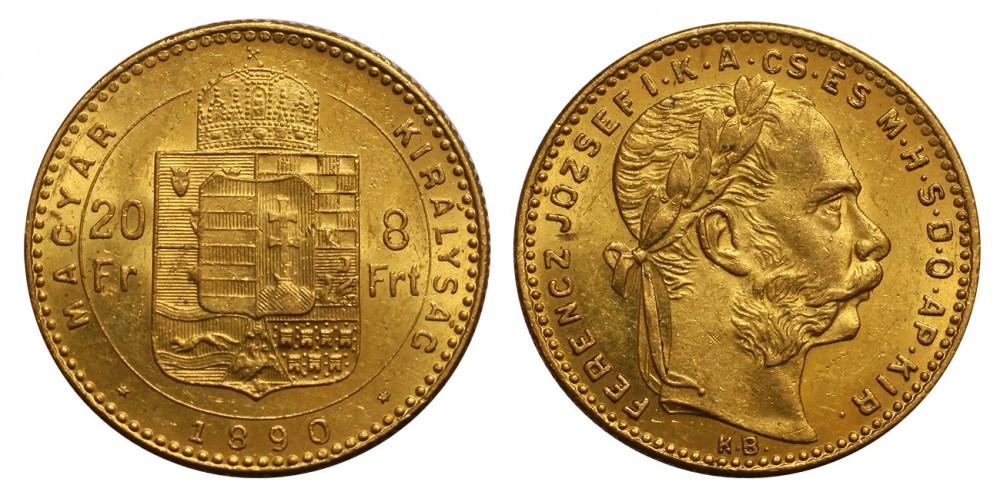 Ferenc József 8 Forint 1890 KB