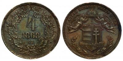 4 Krajcár 1868 K.B.