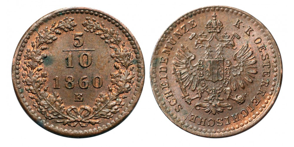 5/10 Krajcár 1860