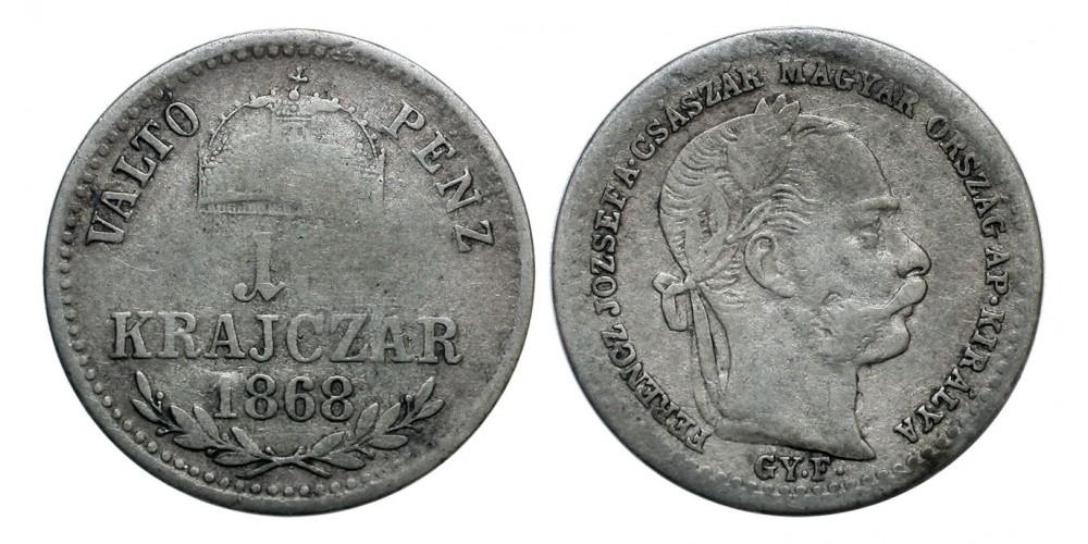 Ferenc József 10 krajcár 1868 GYF. Váltó Pénz
