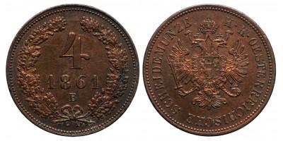 Ferenc József 4 krajcár 1861 B