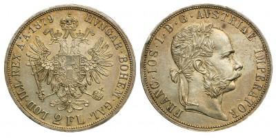 Ferenc József 2 Florin 1879