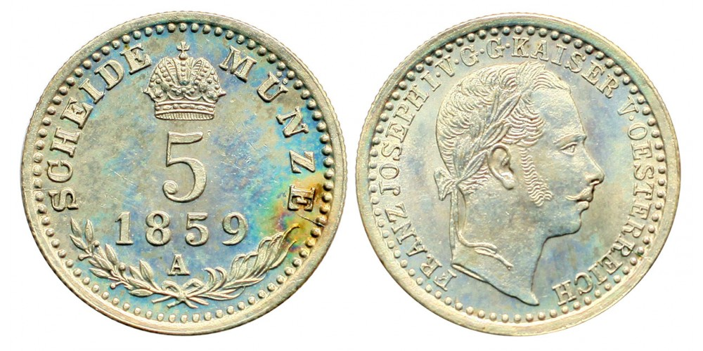 Ferenc József 5 krajcár 1859 A